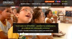 Print da homepage do portal DIVERSA.
